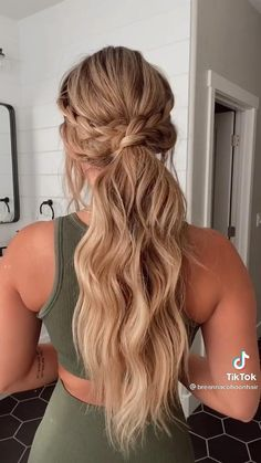 Easy Hairstyles For Long Hair, Formal Hairstyles, Cute Hairstyles, Fashion Hairstyles, Hairstyles For Picture Day, Hair Down Hairstyles, Hairstyles For Bridesmaids, Hairstyles For Girls, Dinner Hairstyles