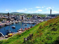 Peel, Isle of Man Castle, Cliffs and Beach