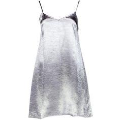 Boohoo Night Emmaline Satin Slip Dress ($35) ❤ liked on Polyvore featuring dresses, nude dresses, bodycon dress, maxi dresses, body con dresses and slip dresses