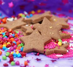 These pastry biscuits by themselves aren't that sweet however with a bit of icing between and sprinkles or decorations on top they're a winner. In the past I've organised birthday parties for my children that involve decorating cupcakes and biscuits. At the end of the party they don't get a party bag with lollies, instead they can take home their creations (usually very proudly).