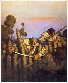 "Illustration from ""Treasure island,"" by Robert Louis Stevenson"