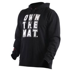 Clinch Gear Own the Mat Wrestling Hoodie.. love the saying :)