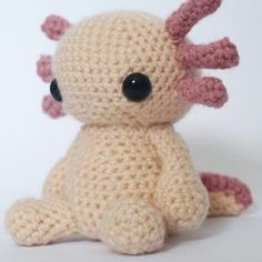 Axolotl amigurumi crochet pattern by Maffers Toys