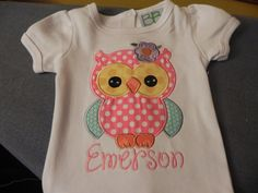 Owl Applique Shirt - Owl Personalized Birthday Shirt on Etsy, $22.00