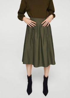 Pleated midi skirt - Women | MANGO USA
