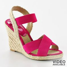 Add a pop of color with these pretty pink espadrilles. Or they come in black which would go with everything! $35.99