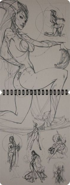 Comic books, movies, games blog everything related to fiction source Presented by LEAGUE OF FICTION: Jeff J. Scott Campbell Ruff Stuff Vol 2 Sketchbook Release: