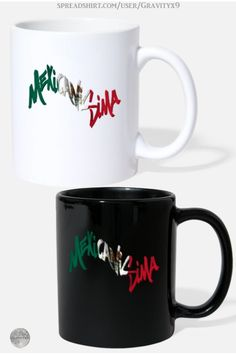 * Mexicanisima Mexican Flag Coffee Mugs by #Gravityx9 at Spreadshirt * Available white or full cover color. * This design is available on home decor, bags, drink ware and more. * Mexico, Mexican, Hispanic Heritage , Mexican American, Chicano, Spanish Themed Coffee mug * Spanish coffee mugs *Latino coffee mug * gift ideas coworker * gift ideas adult * gift ideas coffee lovers * #coffeemug #custommug #customcoffeemug #drinkware #drinkwares #mug #kitchenware #HispanicHeritage #Latino #Chicano…