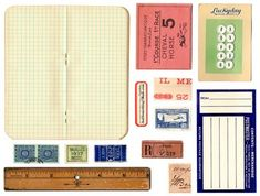 Great blog for free vintage printables. Note to self , go to freebies and then school house notebook- good idea for b-day party