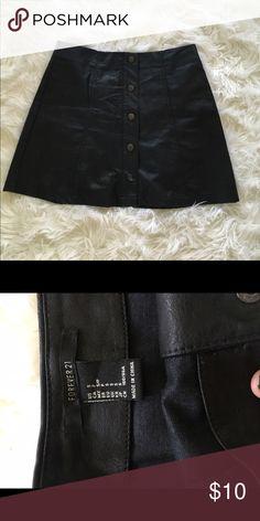 Forever 21 - Black Pleather Skirt Small Black Pleather Skirt - Forever 21 - Worn Only Once Forever 21 Skirts Mini