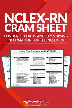 The final mountain that nursing students must summit before becoming a registered nurse is the NCLEX. Preparing for the NCLEX can be stressful as taking in colossal amounts of information has never been easy. This is where this cram sheet can help–it contains condensed facts about the licensure exam and key nursing information. When exam time comes, you can write and transfer these vital information from your head to a blank sheet of paper provided by the testing center.
