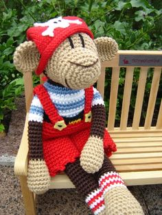 Jack II, crochet Monkey ♥