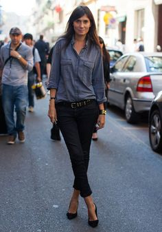 A look at the best fashion — super-skinny jeans, luxe coats, fitted blazers — from Paris Vogue editor in chief Emmanuelle Alt