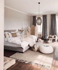 Home, Bedroom Makeover, Home Bedroom, Bedroom Interior, Natural Bedroom Design, House Interior, Apartment Decor, Simple Bedroom, Rustic Bedroom