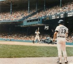 Lance Parrish waits on deck as Kirk Gibson bats at Tiger Stadium. Shea Stadium, Yankee Stadium, Kirk Gibson, Tiger Stadium, Detroit Tigers Baseball, Stadium Tour, Washington Nationals, San Francisco Giants, Dodgers