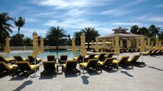 The sun is out and our new Royal Palm Pool is open!