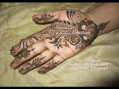 Quick DIY Easy Arabic Henna Mehndi Design Tutorial