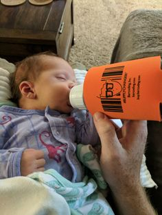 Even babies love coozies! #barcodingspotted