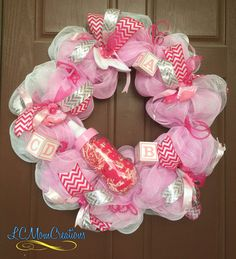baby shower deco baby shower wreaths baby wreaths girl baby showers