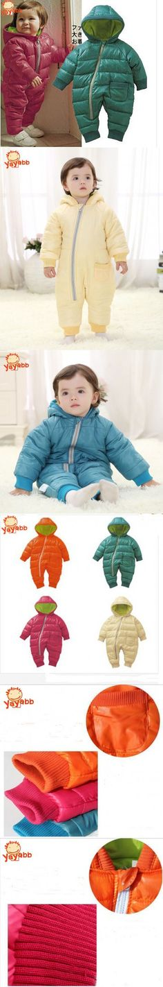 2016 New Winter Baby Rompers Cotton Padded Jack Baby Outwear Clothes 4 Color Snowsuit Children Kids Jumpsuit Baby Coat Retail
