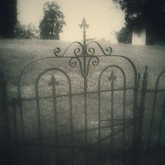 No Exit.  Cemetery gate, Clinton MS. Digital photo, B. DeYoung.