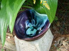 Who needs round when you have heart...one of kind ceramic bowls from Handy Clay Creations