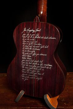Custom Hand-scripted Lichty Ukulele, Indian Rosewood High G Tenor