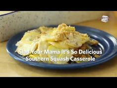 As if the title of this recipe wasn't convincing enough, this casserole is the real deal. The flavors and textures blend well and there is happiness in every bite. Easy Squash Casserole, Southern Squash Casserole, Veggie Casserole, Easy Casserole Recipes, Casserole Dishes, Veggie Dishes, Vegetable Recipes, Side Dishes, Yellow Squash Recipes