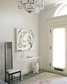 CB2 Peekaboo Console Table and Owl Umbrella Stand Lori Graham Design - entrances/foyers