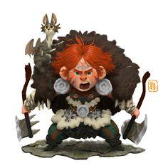 Viking Boy and The Dragon Cat!, Gop Gap on ArtStation at https://www.artstation.com/artwork/1wyJ8