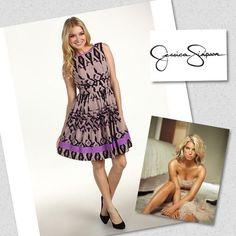 Jessica Simpson Otomi Bellflower Purple Dress Plus Sz 20W | eBay