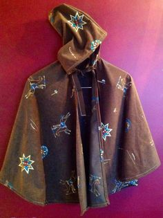 Western Theme childs Brown Cape with Hood