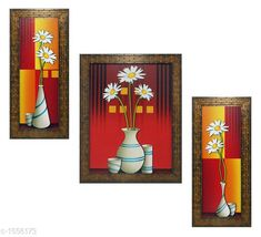 Paintings & Posters Colorfull Wall Painting (Set Of 3) Material: Wood & Plastic Size: Frame 1 (L x W) - 6 In x 13 In Frame 2 (L x W) - 10.2 In x 13 In Frame 3 (L x W) - 6 In x 13 In Description: It Has 3 Pieces Of Frames With Paintings (Glass Is Not Included) Work: Printed Country of Origin: India Sizes Available: Free Size   Catalog Rating: ★4 (185)  Catalog Name: Spiritual Colorfull Wall Paintings Combo Vol 2 CatalogID_202309 C127-SC1611 Code: 482-1556173-645