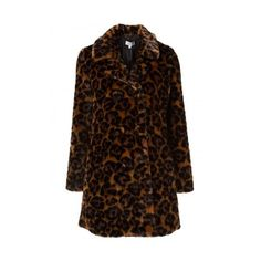 Coach Faux-Fur 'Wild Beast' Coat ($895) ❤ liked on Polyvore featuring outerwear, coats, brown faux fur coat, brown coat, fake fur coats, coach coat and faux fur coat