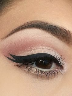Pacifica Eyeshadow Duo on lid and lower lash line.