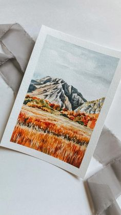 Watercolor Landscape, Landscape Art, Landscape Paintings, Watercolor Paintings, Painting Inspiration, Art Inspo, Sketch Painting, Pretty Art, Watercolor Illustration