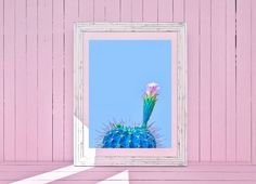 Cactus Print Mexican Decor Printable Art Blue Cactus Print | Etsy Cactus Wall Art, Cactus Painting, Cactus Print, Flower Prints, Flower Art, Cactus Doodle, Art Blue, Flower Silhouette, Desert Art