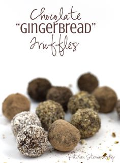 "Chocolate ""Gingerbread"" Truffles"
