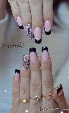 100+ классический и нежный французский Маникюр и другие красивые дизайн ногтей…