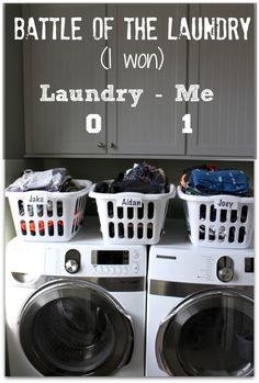 GREAT tips for getting through all of that family laundry in less time