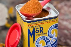 Captain Cat's Mor seasoning. Now it's meant for fish and I am a vegetarian, but how could I resist a tin like this?