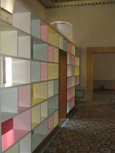 Libreria parete divisoria, Palazzo Mozzi - Firenze