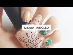 Disney Tangled // Nail art tutorials - http://www.nailtech6.com/disney-tangled-nail-art-tutorials/