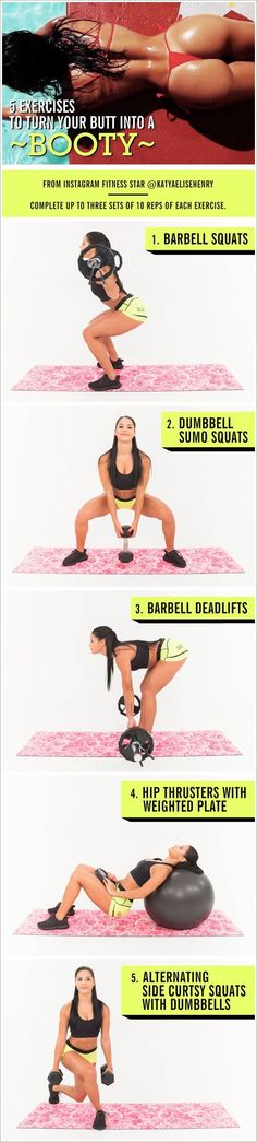Butt Exercises that really work! Do them all for a complete booty building workout. Follow me for more workouts and weight loss tips that really work.   #weightloss #loseweight #howtoloseweight #bodyweightworkout #buttexcercises #weightlosstips #fitness #excercises #health #diet #burncalories