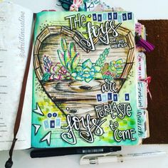 Bible Journaling by @christinasalive