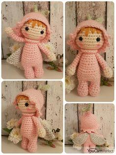 Tiny Lalylala Elfje, basis-patroontje van Natalia Kulina, made by Linnepin