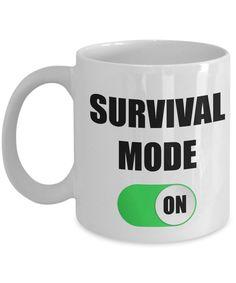 Yesecart-Survival Mode On-Funny Coffee Mugs-Coffee Mug Funny-Funny Mugs-Mugs Funny-Funny Mugs For Men-Funny Tea Mugs-Coffee Mugs Funny-Sarcasm Mug-Funny Coffee Mugs Sarcasm-Funny Office Survival Kits #coffeemugs