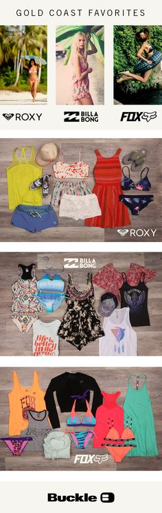 Gold Coast Favorites: Top West Coast Brands - Billabong, Roxy, and Fox | Buckle