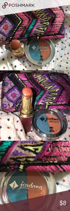 2 for $8 makeup Bundle Bronze lipstick and eyeshadow bundle. Perfect combo for eyes and lips. Never used. Both new. Makeup
