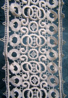 Antique French Lace Trim Schiffli  Insertion or by AntiqueDelights, $24.00